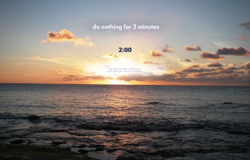 Do Nothing For Two Minutes