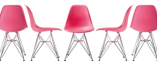 Eames Shell Side Chair DSR Pink