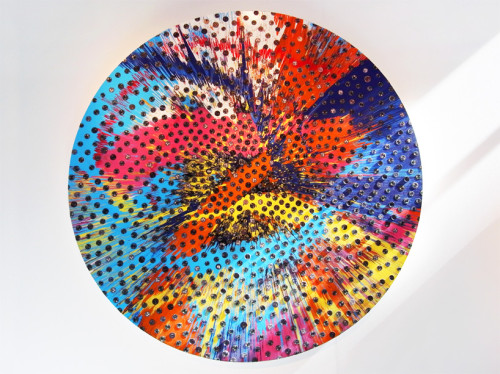 Beautiful Sunflower Panerai Painting by Damien Hirst