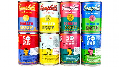 Campbell's Releases Warhol-Inspired Soup Cans