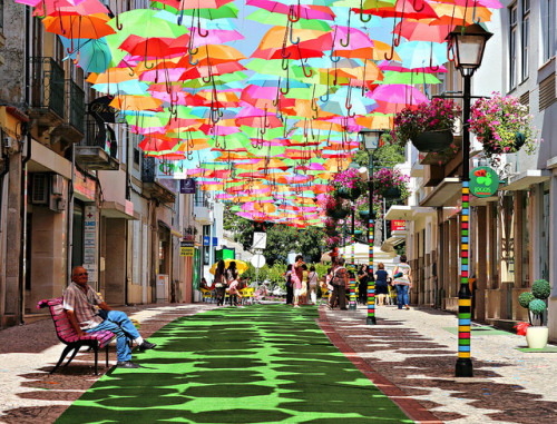 Colorful Umbrellas Installation