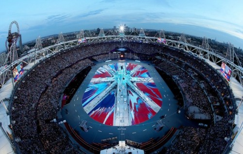 Damien Hirst Designs Union Jack Flag for London 2012 Olympics Closing Ceremony