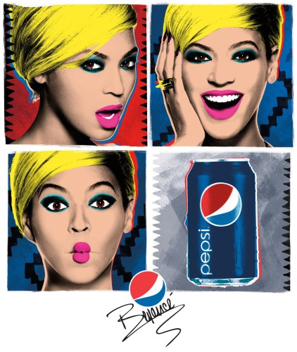 Beyonce Pop Art Pepsi Ad