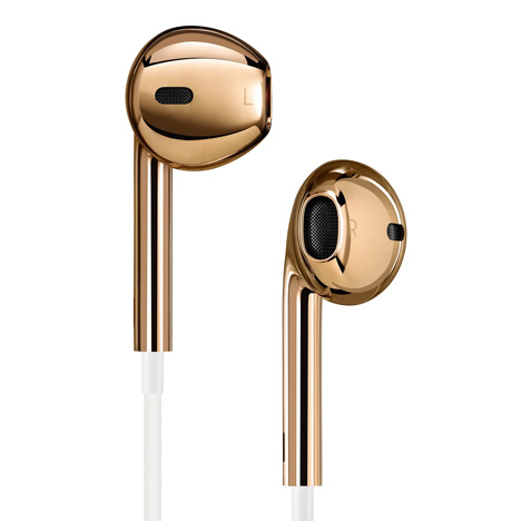 18k Solid Rose Gold Apple EarPods Customized by Jony Ive and Marc Newson
