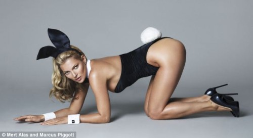Kate Moss unveiled as Playboy Bunny in 40th birthday pictures
