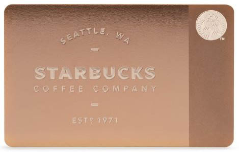 The Limited-Edition Metal Starbucks Card