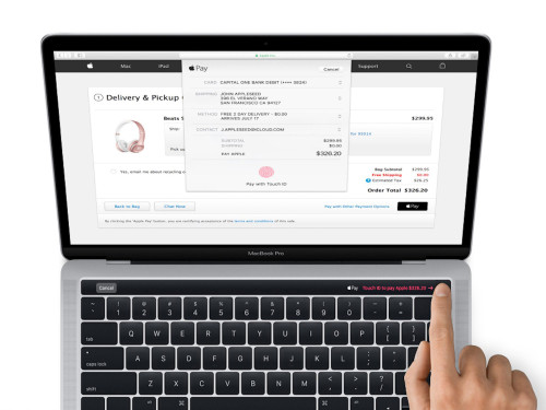 New MacBook Pro with Magic Toolbar