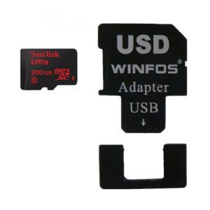 SanDisk Ultra 200GB MicroSDXC + Winfos USD