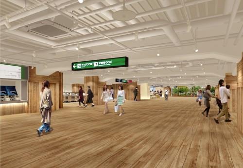無印良品、京阪線枚方市駅をデザイン