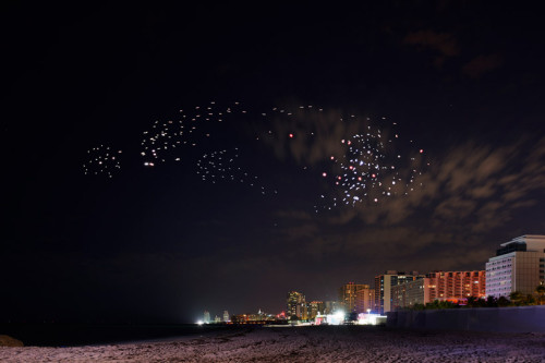 Studio Drift X BMW Drones Illuminate Miami Beach During Art Basel 2017