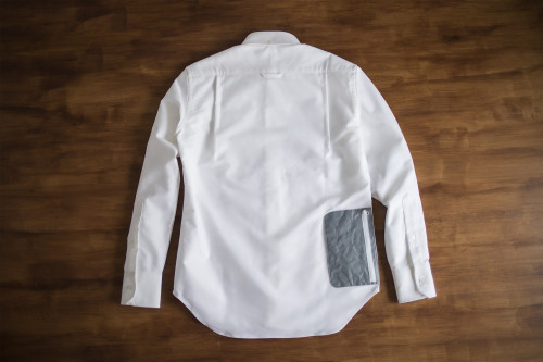 NEXTRAVELER TOOLS Gray Pocket With Non-Iron Travel Shirt