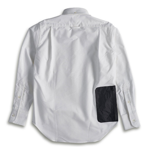 NEXTRAVELER TOOLS BLACK POCKET with NON-IRON TRAVEL SHIRT (WHITE)