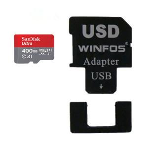 SanDisk Ultra 400GB MicroSDXC + Winfos USD